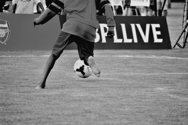 Barefooted soccer