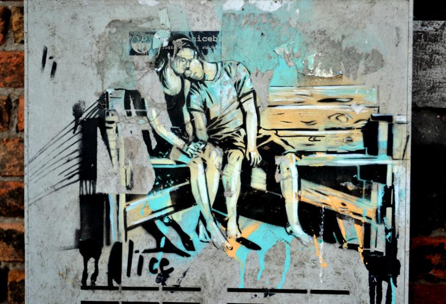 Graffiti couple Venice